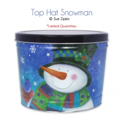 Top Hat Snowman / 6.5 Gallon Tin