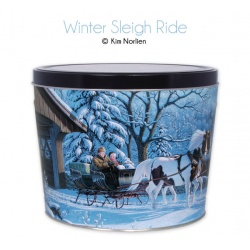 Winter Sleigh Ride / 6.5 Gallon Tin